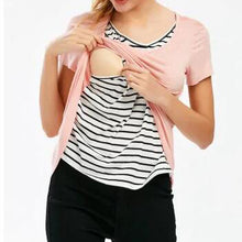 Maternity Stripes Multifunctional Feeding & Nursing Tops