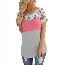 Maternity Floral Top Short Sleeve T-Shirt