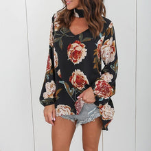 Women Sexy Printed Flower T-Shirt