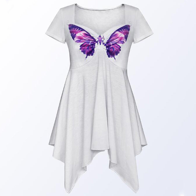 Maternity Butterfly Prints T-Shirt