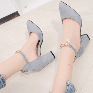 Zipper Casual Chunky Heel Pumps