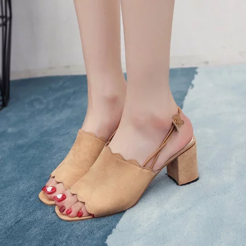 Women Nubuck Sandals Casual Elastic Band Shoes