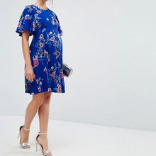 Maternity Floral Short Sleeve Dress