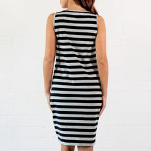 Maternity Stripes Feeding & Nursing Dress