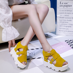 Large Size Slip On Band Wedges Sandals