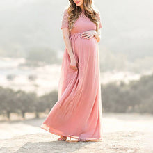 Maternity Pink Short Sleeve Dress