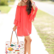 Maternity Off Shoulder Chiffon Long Sleeve Daliy Dress
