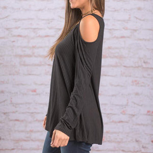 Maternity Casual Cut Out Long Sleeve Tee