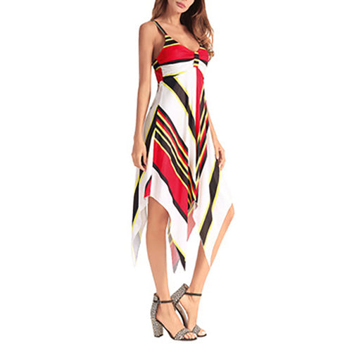 Women Stripe Sleeveless Dress