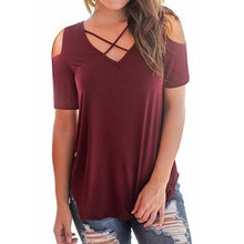 Maternity Cold Shoulder Lace-Up T-Shirt