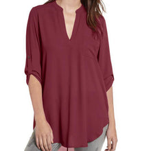 Maternity Casual V-Neck Chiffon Tee