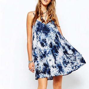 Maternity Color Print Short Dress