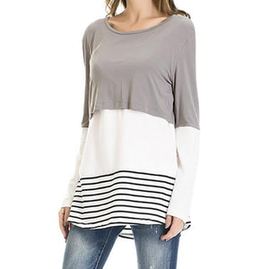 Maternity Round Neck Long Sleeve Top