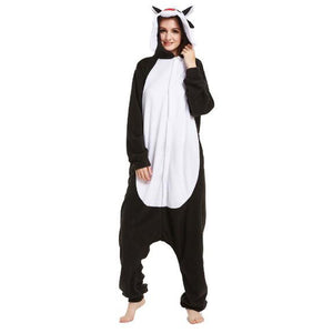 Black Wolf Onesie Union Suit Pajama