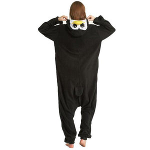 Black Penguin Onesie Union Suit Pajama