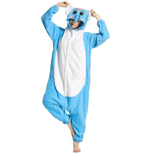 Blue Elephant Onesie Union Suit Pajama