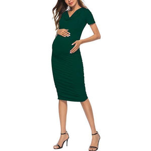 Maternity Casual Ruched Sundress