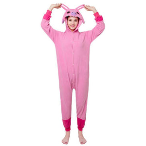 Pink Stitch Onesie Union Suit Pajama