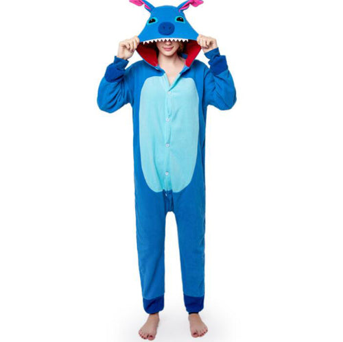 Blue Stitch Onesie Union Suit Pajama