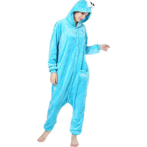 Blue Onesie Union Suit Pajama