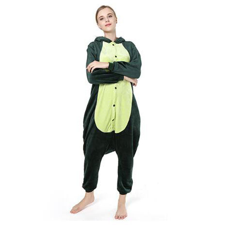 Green Dinosaur Onesie Union Suit Pajama
