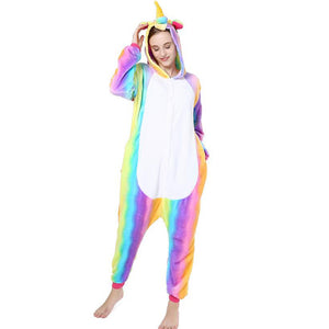 Rainbow Onesie Union Suit Pajama