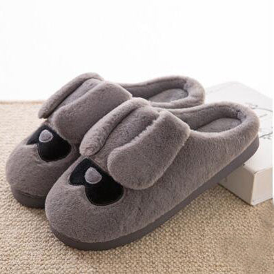Gray Cute Warm Slippers