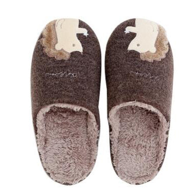 Coffee Hedgehog Warm Slippers