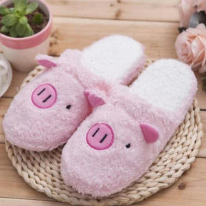 Pig Slippers In Pink