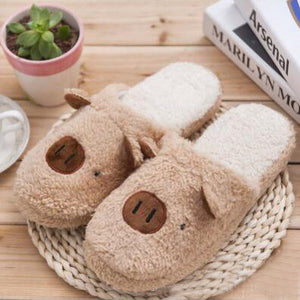 Pig Slippers In Cotton