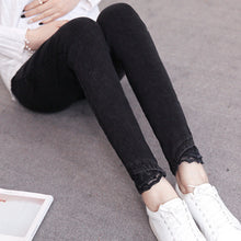 Cowboy Splicing Lace Pencil Pants