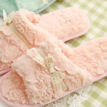 Bow Knot Slippers In Pink