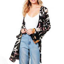 Maternity Black Flower Prints Cardigan