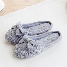 Bow Knot Slipper In Gray