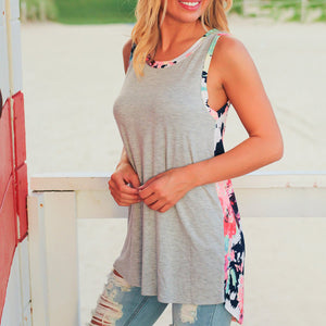 Flower Prints Maternity Casual Tank Top