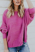 Crew Neck Backless Plain Sweaters