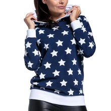 Stars Printing Lactation Long Sleeves Hoodie