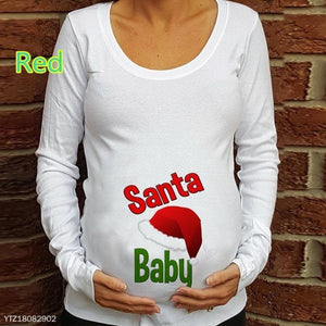 Maternity Long Sleeve Round Neck Print T-Shirt