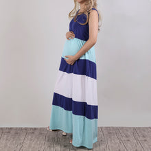 Colorblock Chevron Accent Maternity Maxi Dress