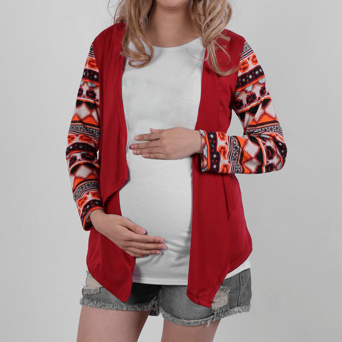 Maternity Printed  Long Sleeve Cardigans