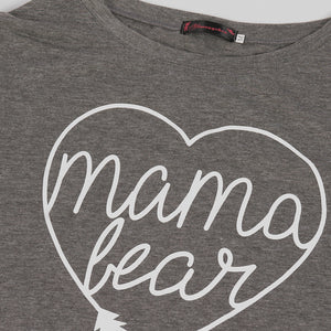 Maternity One Shoulder Letter Print Tee