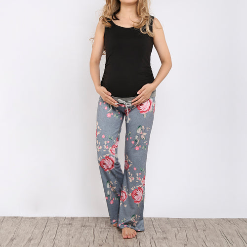 Maternity Frenulum Broad Leg Women Trousers