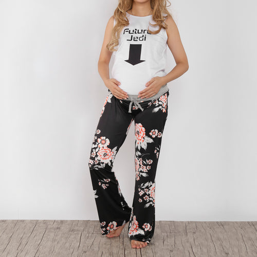 Frenulum Broad Leg Maternity Trousers