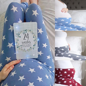 Maternity Star Print Pregnant Women Leggings