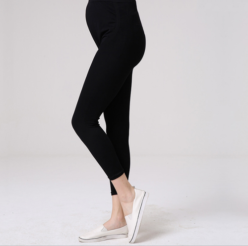 Maternity Abdomen Supportive Black Leggings