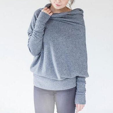 Bat Sleeve Wide Collar Button Detail Sweater
