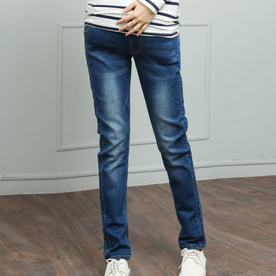 Maternity Straight Tube Casual Jeans