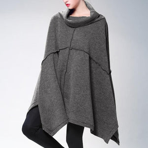 Fashion Solid Color Long Loose Knit Sweater
