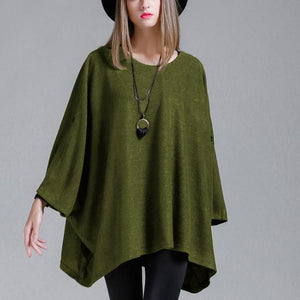 Maternity Solid Color Long Sleeve Loose Knit Sweater