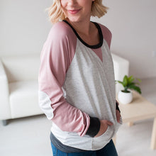 Circular Collar Splicing Long Sleeves T - Shirt